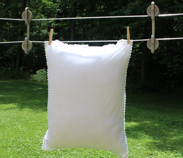 Drying Pillow on Clothesline